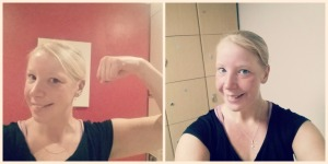 ...that's obviously a lie, this is what I really look before and after spinning!