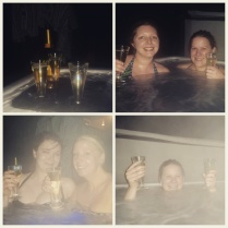 Including freezing cold hottubbing